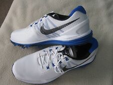 NIKE WHITE/BLUE LUNAR CONTROL 3 SIZE 10.5 GOLF SHOES NEW WITH BOX