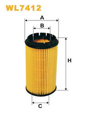 WIX WL7412 Car Oil Filter Eco Cartridge Replaces HU718x CH9685 OX384D