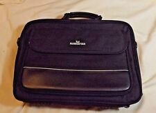 MANHATTEN 15 INCH SOFT COVERED NOTEBOOK COMPUTER BRIEFCASE- USED IN BLACK