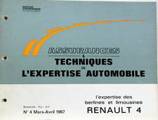 1967 RENAULT 4 4L R4   CATALOGUE DE PIECES AUTO EXPERTISE POUR ASSURANCES