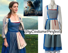 FREE WW SHIP 2017 Movie Beauty and The Beast Belle BLUE dress costume Cosplay