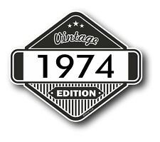 Vintage Edition 1974 Classic Retro Cafe Racer Style Vinyl Motorcycle car sticker