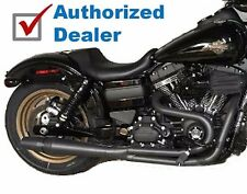 Black Thunderheader 2 into 1 2:1 Full Exhaust Pipe System 2012-2017 Harley Dyna