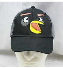 NWT Angry Birds Black Bird Boys Hat Baseball Cap Licensed By Rovio Very Limited!