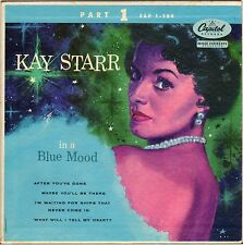 "KAY STARR ""IN A BLUE MOOD"" VOCAL JAZZ 50'S EP CAPITOL 1-580"