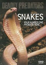 SNAKES DEADLY PREDATORS DVD - YOUR NUMBER ONE PHOBIA IS HERE! WITH ROB BREDL