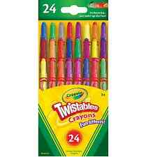Crayola 24 Twistables Crayons Fun Special Effects Wax Stationery Neon Rainbow