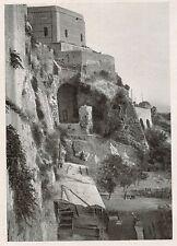 D1495 Cagliari - La base della Torre dell'Elefante - Stampa antica - 1928 print