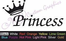 ** PRINCESS ** Car Decal, Vinyl Sticker, Pretty, Nursery, Cute