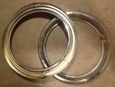 fiat 1100 R, 124 Coupe cornici fari, light chrome rings