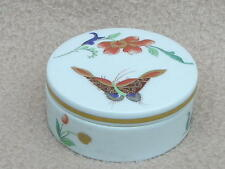 CONTINENTAL VISTA ALEGRE VA PORTUGAL PORCELAIN TRINKET PILL BOX SAMATRA PATTERN
