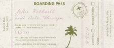 50 Personalised Destination Boarding Pass Wedding Invitations!