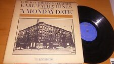 "Earl ""Fatha"" Hines A Monday Date LP Riverside 398 Vinyl Record"