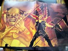 "Iron Maiden 16X11"" Double Page Poster from Kerrang With Eddie & Trooper"