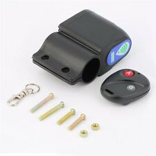Wireless Security Vibration Sensor Alarm System Remote Control For Bicycle AU