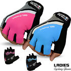 Ladies Cycling Gloves MTB Bike Half Finger Bicycle Palm Gel Silicone Fingerless