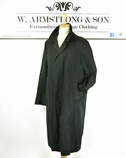 Men's VTG 70's Black AQUASCUTUM Cotton Overcoat Trench Mac Aqua 5 Dapper Coat L