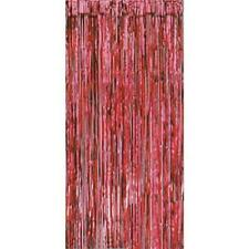 RED METALLIC FOIL SHIMMER DOOR CURTAIN 90CM X 3MTR
