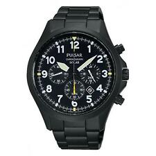 NEW Pulsar PX5003 Gents Solar Powered Chronograph Watch UK Seller