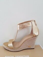 MICHAEL Michael Kors Women's Espadrille Leather Wedge Sandal Size 8,5 NIB