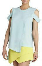 NEW BCBG MAX AZRIA AQUA SLEEVELESS ASYMMETRICAL HEM TOP LMQ1S655/AS262 SIZE M