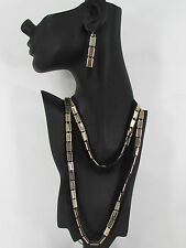 New gold silver women long necklace multi strands balck thin chains dressy style