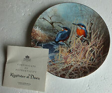 Coalport plate  Kingfisher at Dawn  by David Feather Frosty Mornings Collection
