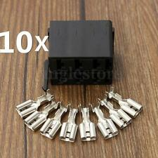 10X ROCKER SWITCH WIRING CONNECTOR PLUG FEMALE TERMINALS FOR ARB CARLING SOCKET