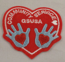 Girl Scout Patch Community Service Gs Usa Hearts And Hand Uniform Patch Gs #Gsrd