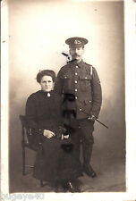 WW1 Pte RAMC Royal Army Medical Corps & wife wears sweetheart badge Winchester