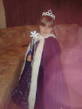 gorgeous girls dressing up costume princess snow queen age 5-6