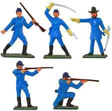 Starlux American Civil War 5 Union Infantry - Painted 60mm Plastic Toy Soldiers