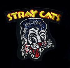 Stray Cats Patch Rockabilly Badge Retro Hot Rod Jacket Vest