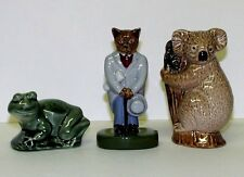 WADE THREE FIGURES KOALA BEAR, SMILING FROG AND CITY GENT CATKINS - ALL BOXED