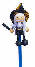 Hand Painted Wizard Character Pencil & Topper Set Party Bags & Stocking Filler
