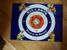 Vintage WW II War  Bonds Poster - WIN A BOND TARGET*