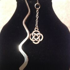 chinese knot book mark silver plated