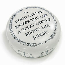 DESK ACCESSORIES - A GOOD LAWYER PAPERWEIGHT - LEGAL - LAW - JUDGE - ATTORNEY