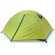 Green Windproof Waterproof Double Layer 2 Person Tent Camping Hiking 3 Season