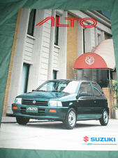 Suzuki Alto brochure c2001 English text