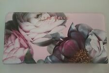 New Ted Baker Sunlit Floral Cross Hatch Matinee Wallet Pale Pink Rose Gold