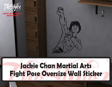 Jackie Chan Oversize Fight Pose Action Wall Vinyl Sticker