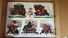 DANBURY MINT GARFIELD CHRISTMAS EXPRESS TRAIN SET/ PAWS EXCELLENT COND