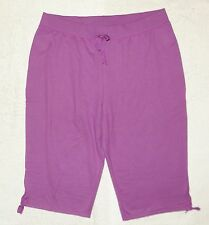 Plus JMS Just My Size French Terry Capris 2X Purple NEW