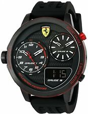 Ferrari Mens Xx Kers Quartz Stainless Steel And Silicone Casual Watch New