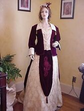 Victorian Bustle Dress Gown: Vintage Reproduction: Theater Gown
