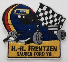 Aufnäher HEINZ HARALD FRENTZEN Sauber Ford V8 F1 Helm Patch Rennanzug Overall