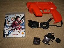 TIME CRISIS 4 GAME + Namco G-Con 3 Light Gun USB Sensors SONY PLAYSTATION 3 PS3