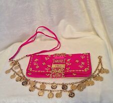 Christian Dior Pink Satin GYPSY DIOR CHARMS Clutch Crossbody Handbag LIMITED ED.
