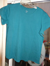 """MOTTO ESSENTIALS """"Teal Short Sleeve Top""""  Size 1X"""